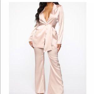 Satin suit set